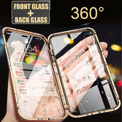 360° Front+Back Temper Glass Magnetic Adsorption Case Cover for iPhone XS Max/XR
