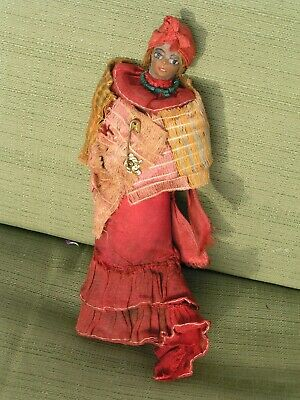 +Haunted Old Voodoo Occult Priestess Spirit Entity Possessed Ritual Effigy Doll