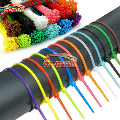 100-1000PCS 2.5*100mm Self-locking Nylon Plastic Cable Ties 150mm 200mm Zip Ties