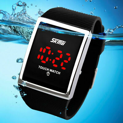 SKMEI Kids Boy's Girl's Square Touch Screen Watch Silicone Waterproof Sports LED