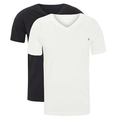 huge selection of 45e4a cf0fd STOCK 6 MAGLIETTE T-Shirt UOMO in Cotone REPLAY JEANS Bianche e Nere a V  Tg. S