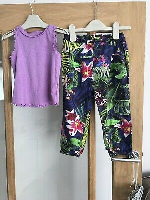 Next Girls Summer Outfit 2-3 Years Vest & Harem Pants