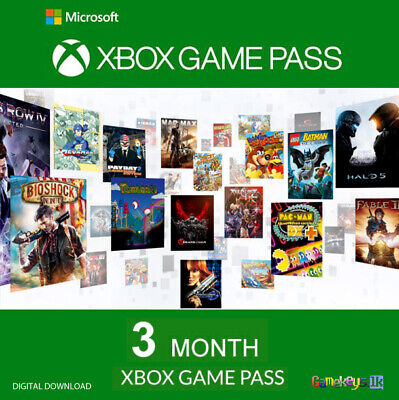3 Month Xbox Game Pass Xbox One Digital Key Region Free (Xbox One)