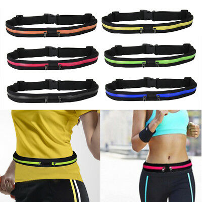 Leisure Runner Unisex Outdoor Sports Bum Bag Running Waist Pack Travel Zip Pouch