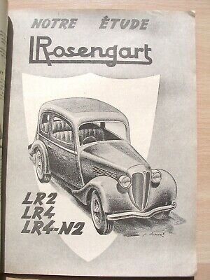 Rosengart LR4 N2, scooter Bernardet ,revue technique automobile RTA 74,juin 1952