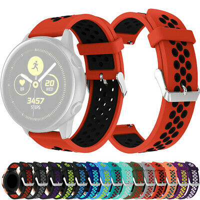 Replacement Silicone Watch Band Wrist Strap For Samsung Galaxy Watch Active 20mm
