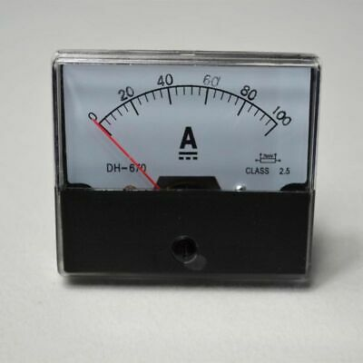 New HQ Analog Panel AMP Current Meter Ammeter Gauge Hot DC 0-100A Top UPDATED