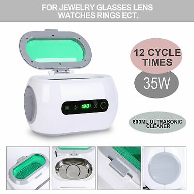 35W Sonic Wave Ultrasonic Cleaner Polish w/Timer for Jewelry Watches Eyeglass