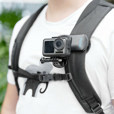 TELESIN Rotary Backpack Clip Hat Clamp Mount for GoPro Xiaomi Yi DJI Osmo Action