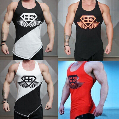 d9431e61 HOT SALE Men Stringer Bodybuilding Tank Top Gym Singlet Y-Back Muscle Racer- back