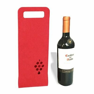 Portable Non-woven Wine Bottle Bag Carrier Packing Festival Party Gifts Pouch