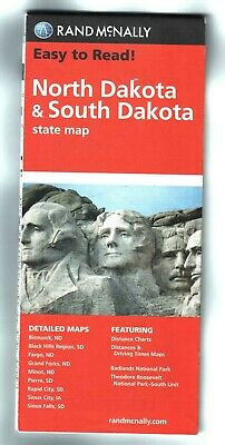 Rand McNally North Dakota and South Dakota State Map