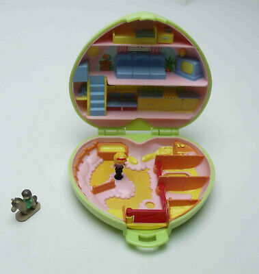 Vintage Polly Pocket Bluebird 1989 Pony Club Horse Stable Compact Complete