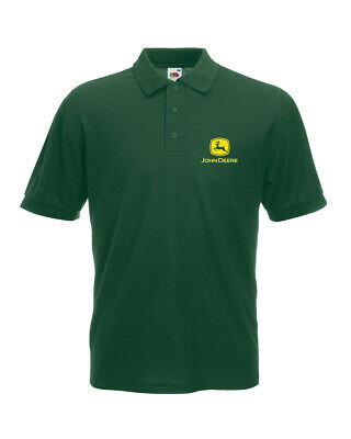 0c00e083 John Deere Tractor Inspired Ladies Polo Shirt Country Life Tee Top 3  Colours New
