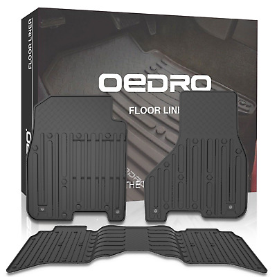 oEdRo Floor Mats Liners Compatible for 2013-2018 Dodge Ram 1500-5500 Crew Cab,