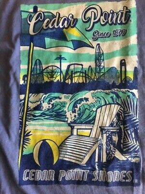 Vintage Since 1870 Rollercoaster Cedar Point Shores Amusement Park shirt Size XL