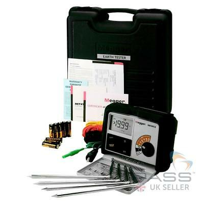 *NEW* Megger DET4TC2 Digital Earth Tester -  Basic Kit (Leads + Spikes)