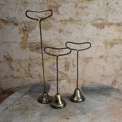 Antique Brass Shop Display Fittings Jewellery Haberdashery Stands Holder three