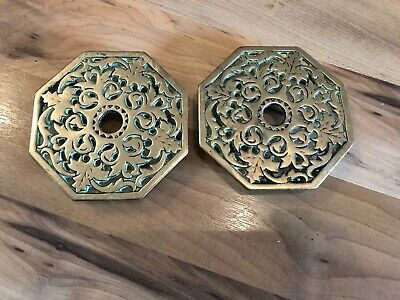 Pair Of Beautiful Victorian Heavy Brass Trivets