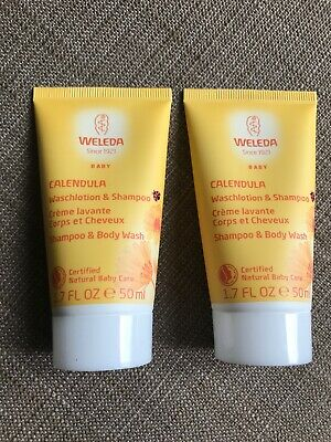 *Holiday Edition* Weleda 2x50ml Travel Size Baby Calendula Shampoo & Body Wash