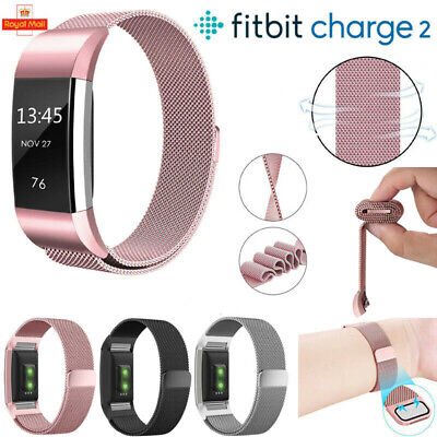 For Fitbit Charge 2 Milanese Strap Band Wristband Bracelet Replacement Magnetic