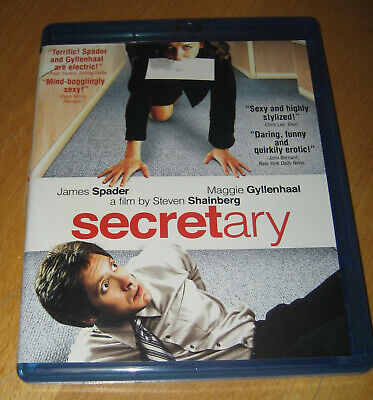 Secretary Blu-ray James Spader Maggie Gyllenhaal Like New Condition