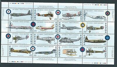 Canada #1808 Canadian Air Forces 1924-1999 Full Pane MNH ** Free Shipping **