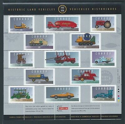 Canada Historic Land Vehicles Collection - 5 #1605 FP MNH ** Free Shipping **