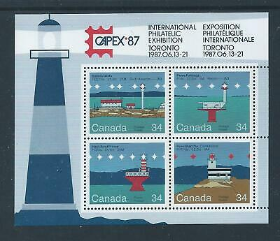 Canadian Lighthouses - 2 #1066b Souvenir Sheet MNH ** Free Shipping **