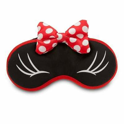 NEW Disney Parks TAG Minnie Mouse Travel Eye Sleeping Mask with Bows & Lashes