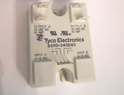 NOS Tyco Electronics SSRD-240D40 Solid State Relay 24-280VAC LOAD 4-15VDC INPUT