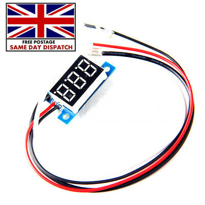 "0.36"" Red LED Digital DC Ammeter AMP Mini Current Panel Meter DC 0-50A K6"