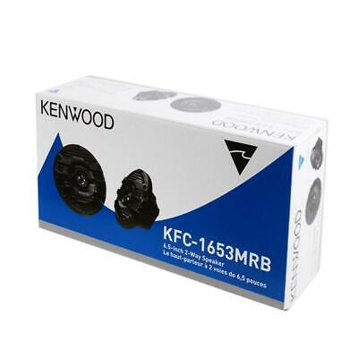 "Kenwood KFC-1653MRB 150 W Max 6.5"" 2-Way 4-Ohms Marine Audio Speakers - Black"