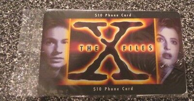 The X-Files Pre-Paid Phone Card Frontier Communications 1996 RARE AND SEALED
