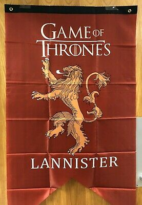 "Lannister Game of Thrones GOT Tournament Banner Flag 29"" x 49"" NIP"