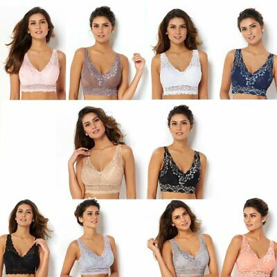 Rhonda Shear 2-pack Lace Bra with Removable Pads 539606-E
