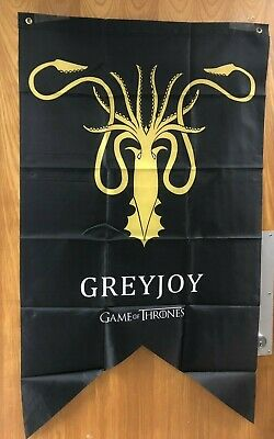 "Greyjoy Game of Thrones GOT Tournament Banner Flag 29"" x 49"" NIP"