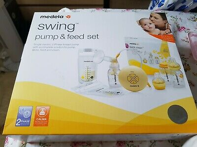 Medela Swing Pump and Feed Set Single Electric Breast Pump Brand New Sealed Box