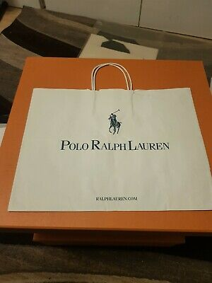 🎁 POLO RALPH LAUREN Paper Gift Shopping Bag WxHxD 40x30.