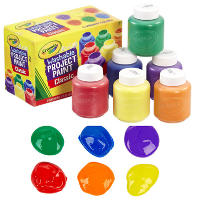WASHABLE PAINT FOR Kids Toddler Baby Finger Craft Poster Non Toxic Paint  Crayola