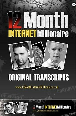 12 Month Internet Millionaire - Vince James And Russell Brunson PDF And Audio