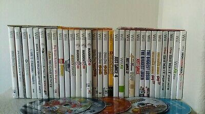 HUGE Lot of Nintendo Wii Games, Cases, and Manuals, UNTESTED AS IS 45 Pieces