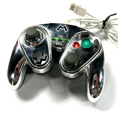 """PDP """"METAL MARIO"""" WIRED FIGHT PAD CONTROLLER For Nintendo Wii - Tested!"""