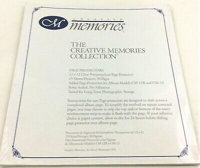 Creative Memories Collection 12 x 12 Page Protectors 15 Sheets Clear