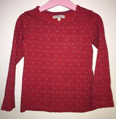 Girls Age 3-4 Years - M&S Long Sleeved Top - Tiny Dog Patterned