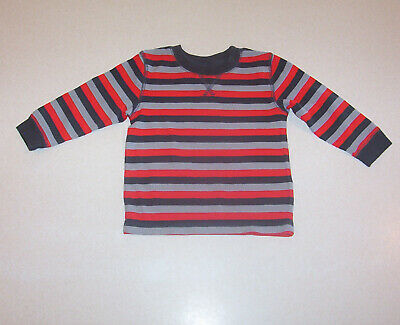 Infant Boy's Circo Gray & Orange Waffle Weave Long Sleeves Knit T-Shirt 12 Month