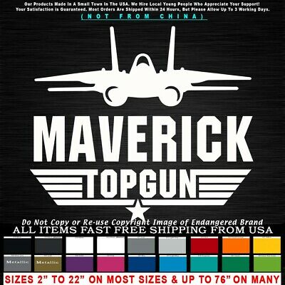 Top Gun Logo Maverick F-14 Viper Tom Cruise Goose Iceman Car Truck Sticker Decal