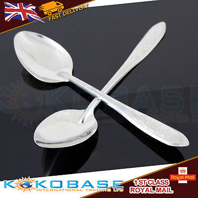 10x Tablespoons Stainless Steel Spoons Set Everyday Cutlery Coffee Drink Soup