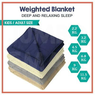 Kids Adult Size Microfibre Weighted Blanket Heavy Gravity 2.2/3.2/4.5/6.8/ 9KG