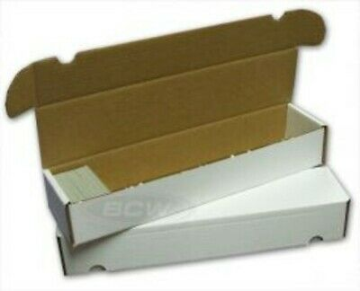(1) 930 Ct. White Cardboard Storage Box Store Protect Baseball Trading Cards